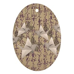 Paper cranes Oval Ornament (Two Sides)