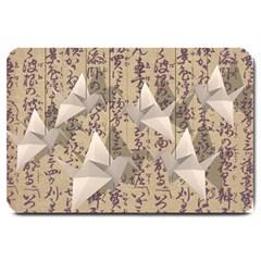 Paper cranes Large Doormat