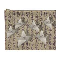 Paper cranes Cosmetic Bag (XL)