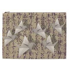 Paper cranes Cosmetic Bag (XXL)