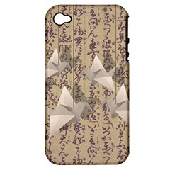 Paper cranes Apple iPhone 4/4S Hardshell Case (PC+Silicone)
