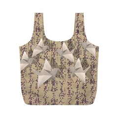 Paper cranes Full Print Recycle Bags (M)