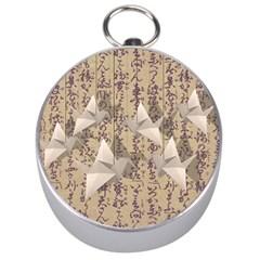 Paper cranes Silver Compasses