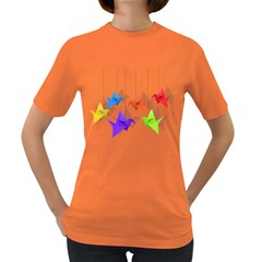 Paper cranes Women s Dark T-Shirt