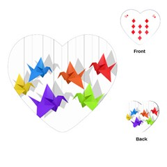 Paper cranes Playing Cards (Heart)