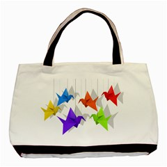 Paper cranes Basic Tote Bag (Two Sides)