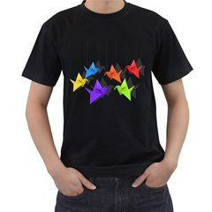 Paper cranes Men s T-Shirt (Black)