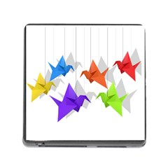 Paper cranes Memory Card Reader (Square)