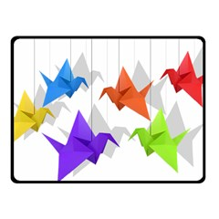 Paper cranes Fleece Blanket (Small)