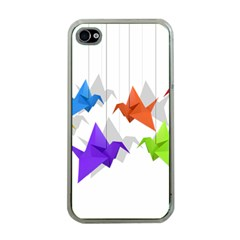 Paper cranes Apple iPhone 4 Case (Clear)