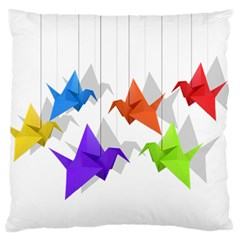 Paper cranes Large Flano Cushion Case (One Side)