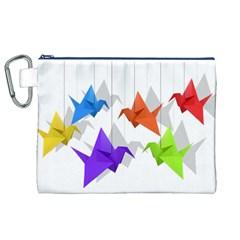 Paper cranes Canvas Cosmetic Bag (XL)