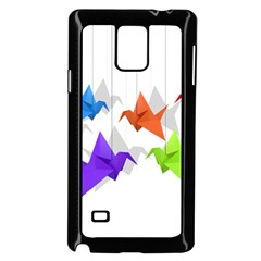 Paper cranes Samsung Galaxy Note 4 Case (Black)