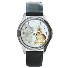 Rabbit  Round Metal Watch