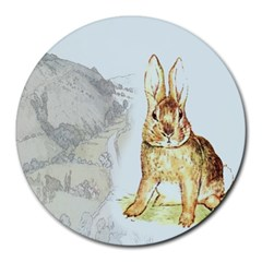 Rabbit  Round Mousepads