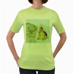Rabbit  Women s Green T-Shirt