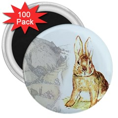Rabbit  3  Magnets (100 pack)