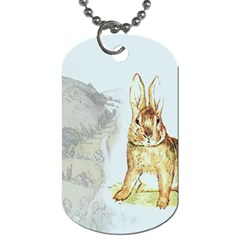 Rabbit  Dog Tag (Two Sides)