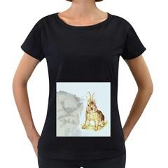Rabbit  Women s Loose-Fit T-Shirt (Black)