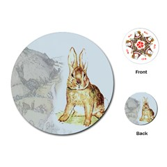 Rabbit  Playing Cards (Round)