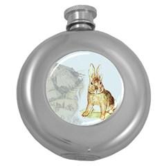 Rabbit  Round Hip Flask (5 oz)