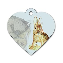 Rabbit  Dog Tag Heart (One Side)