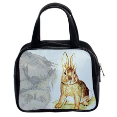 Rabbit  Classic Handbags (2 Sides)