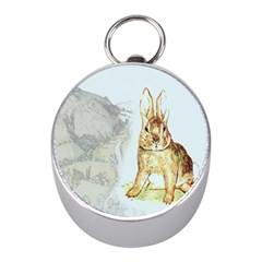 Rabbit  Mini Silver Compasses