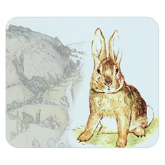 Rabbit  Double Sided Flano Blanket (Small)