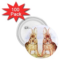 Rabbits  1.75  Buttons (100 pack)