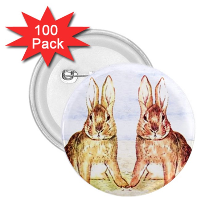 Rabbits  2.25  Buttons (100 pack)