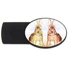 Rabbits  USB Flash Drive Oval (2 GB)