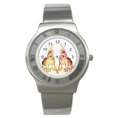 Rabbits  Stainless Steel Watch
