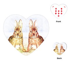 Rabbits  Playing Cards (Heart)