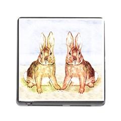 Rabbits  Memory Card Reader (Square)
