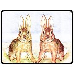 Rabbits  Fleece Blanket (Large)