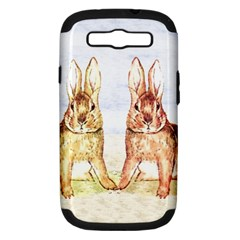 Rabbits  Samsung Galaxy S III Hardshell Case (PC+Silicone)