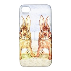 Rabbits  Apple iPhone 4/4S Hardshell Case with Stand