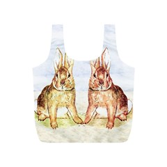 Rabbits  Full Print Recycle Bags (S)