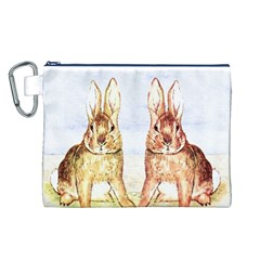 Rabbits  Canvas Cosmetic Bag (L)