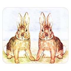Rabbits  Double Sided Flano Blanket (Small)