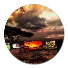Africa Round Mousepads