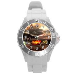 Africa Round Plastic Sport Watch (L)