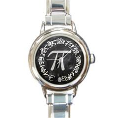 Pi Round Italian Charm Watch