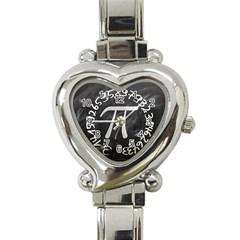 Pi Heart Italian Charm Watch