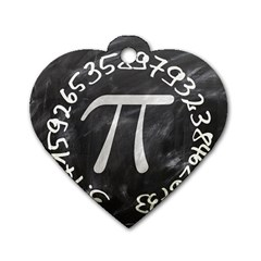 Pi Dog Tag Heart (One Side)