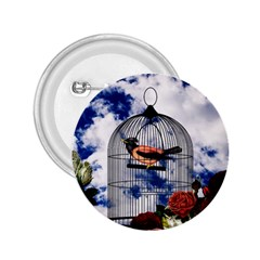 Vintage bird in the cage  2.25  Buttons