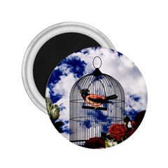 Vintage bird in the cage  2.25  Magnets