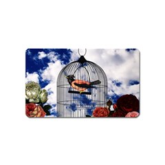 Vintage bird in the cage  Magnet (Name Card)