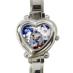 Vintage bird in the cage  Heart Italian Charm Watch